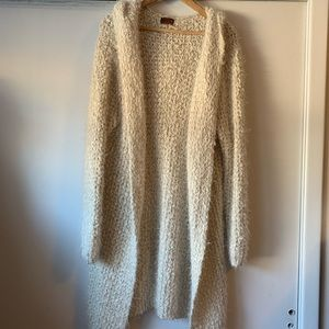 POL Fuzzy long cardigan sweater with hood 🍂
